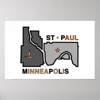 Amor de la ciudad gemela de Minneapolis San Pablo Impresiones