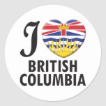 Amor de la Columbia Británica Etiqueta