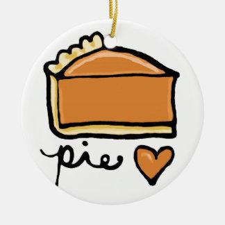 ¡Amor de la empanada! Adorno Navideño Redondo De Cerámica