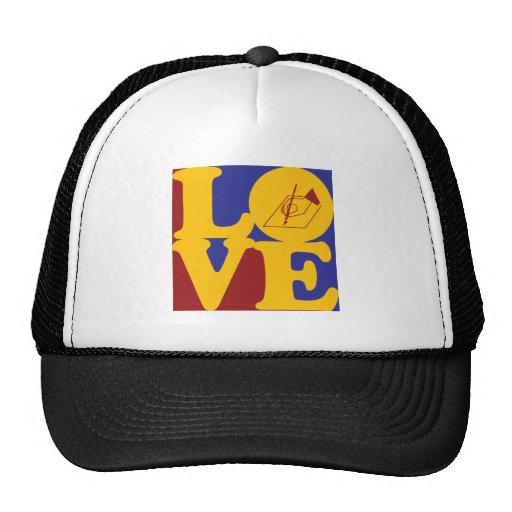 Amor de la escritura gorras