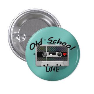 Amor de la escuela vieja pin redondo de 1 pulgada