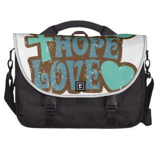 amor de la esperanza de la fe bolsas para portátil