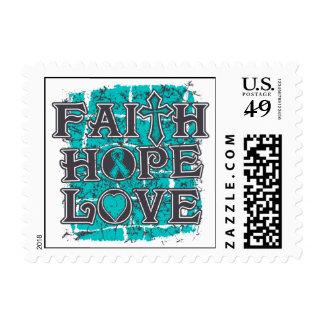 Amor de la esperanza de la fe de Gravis de la Timbres Postales