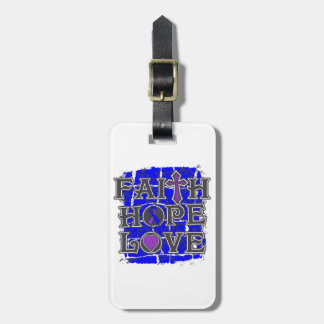 Amor de la esperanza de la fe de la artritis reuma etiquetas maletas