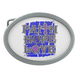 Amor de la esperanza de la fe de la artritis reuma hebillas de cinturon