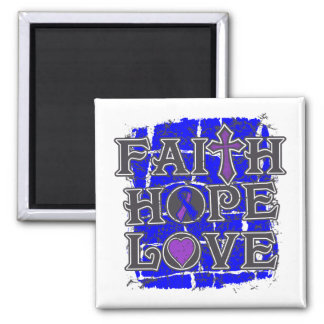 Amor de la esperanza de la fe de la artritis reuma imán cuadrado