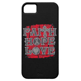 Amor de la esperanza de la fe de la diabetes funda para iPhone 5 barely there