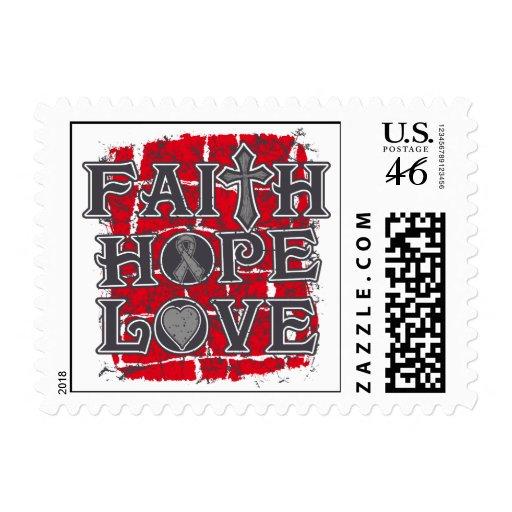 Amor de la esperanza de la fe de la diabetes sellos