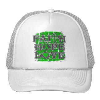 Amor de la esperanza de la fe de lesión de la médu gorras de camionero