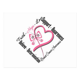 Amor de la esperanza de la fe del cáncer de pecho postales