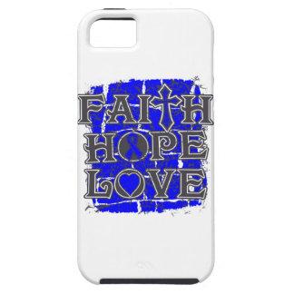 Amor de la esperanza de la fe del cáncer rectal iPhone 5 Case-Mate protector