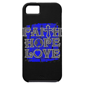 Amor de la esperanza de la fe del cáncer rectal iPhone 5 Case-Mate fundas