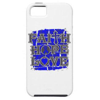 Amor de la esperanza de la fe del cáncer rectal funda para iPhone 5 tough