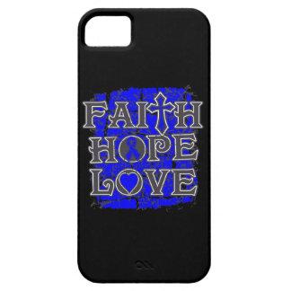 Amor de la esperanza de la fe del cáncer rectal iPhone 5 fundas