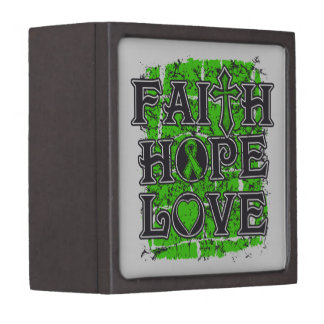 Amor de la esperanza de la fe del linfoma Non-Hodg Caja De Regalo De Calidad