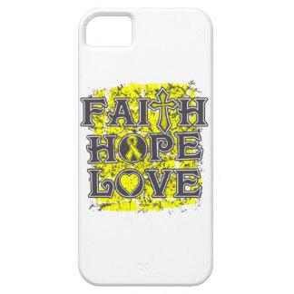 Amor de la esperanza de la fe del osteosarcoma iPhone 5 Case-Mate protectores