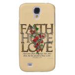 Amor de la esperanza de la fe, diseño floral con v
