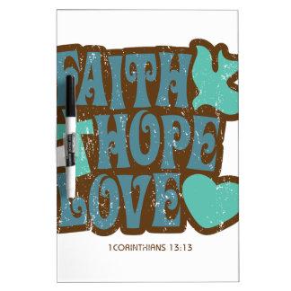 amor de la esperanza de la fe pizarras