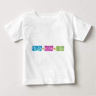 Amor de la esperanza de la fe t-shirts