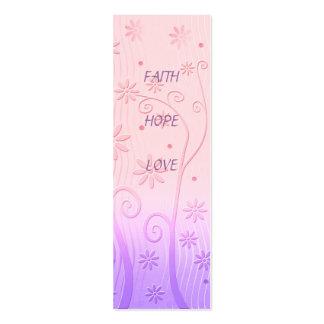 Amor de la esperanza de la fe - señal tarjetas de visita mini