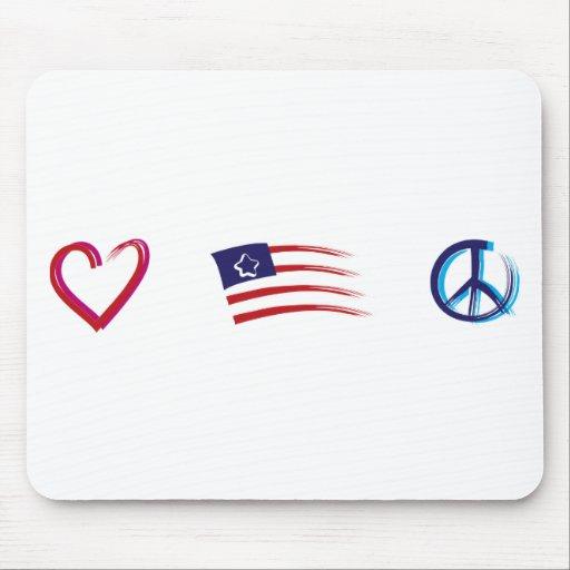 Amor de la esperanza de la paz tapete de ratones
