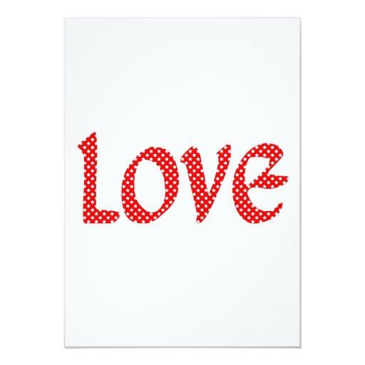 Amor de la estrella del rojo y del blanco invitaciones personalizada