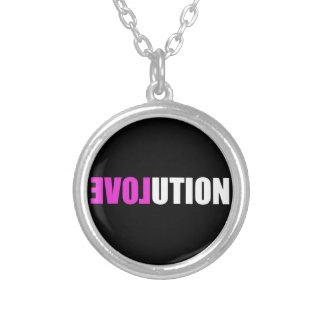 Amor de la evolución collares personalizados