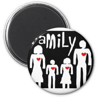 amor de la familia en el ejemplo imán redondo 5 cm