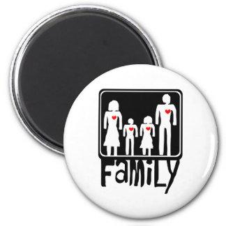 amor de la familia imán redondo 5 cm