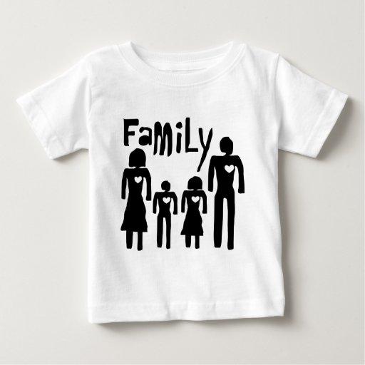 amor de la familia playera de bebé