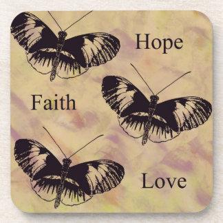 Amor de la fe de la esperanza de las inspiraciones posavaso