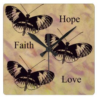 Amor de la fe de la esperanza de las inspiraciones reloj