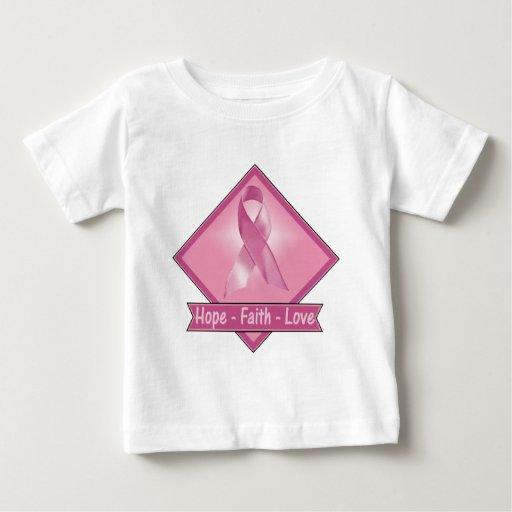 Amor de la fe de la esperanza del cáncer de pecho playeras