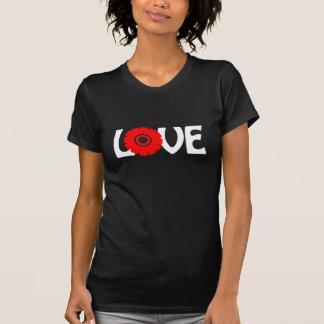 Amor de la flor camisetas