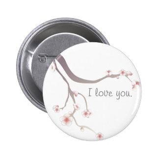 Amor de la flor de cerezo… pin redondo de 2 pulgadas