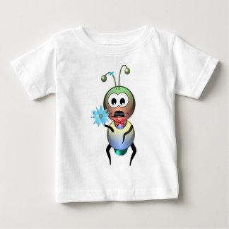 Amor de la flor de la hormiga del átomo playera de bebé
