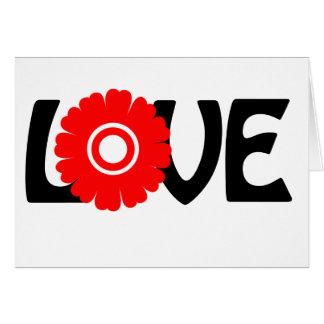 Amor de la flor felicitación