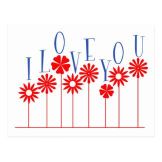 Amor de la flor tarjetas postales