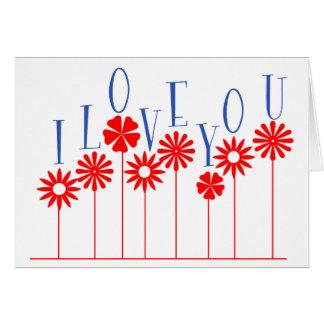Amor de la flor tarjetón