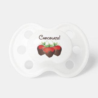 Amor de la fresa del chocolate chupetes para bebés