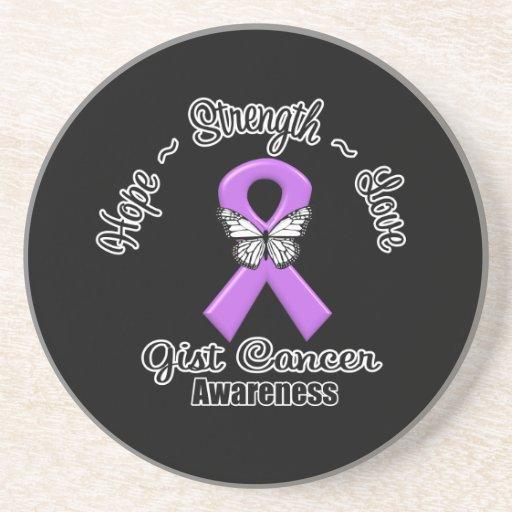 Amor de la fuerza de la esperanza del cáncer del E Posavasos Manualidades