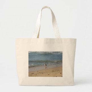 Amor de la gaviota de la playa de Montauk Bolsas