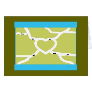 Amor de la granja de la hormiga tarjeta de felicitación