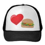 ¡Amor de la hamburguesa!  Personalizable: Gorra