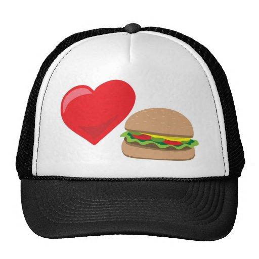 ¡Amor de la hamburguesa!  Personalizable: Gorros