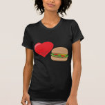 ¡Amor de la hamburguesa!  Personalizable: Camisetas