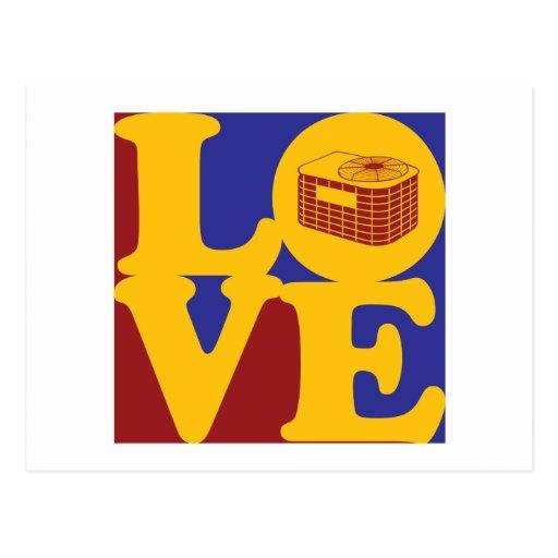Amor de la HVAC Tarjeta Postal