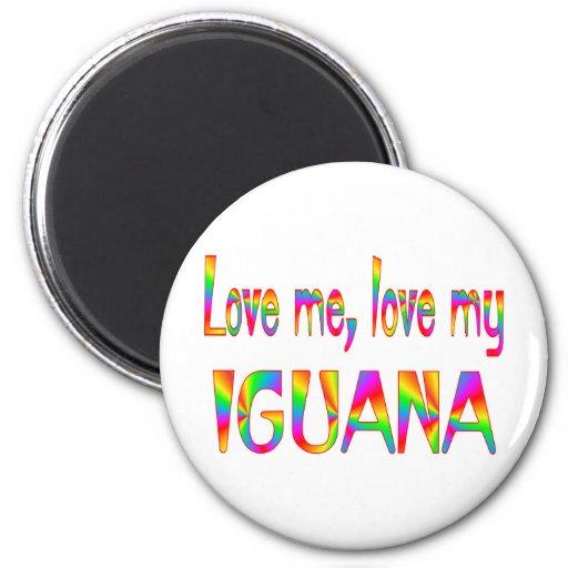 Amor de la iguana imán redondo 5 cm