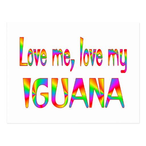 Amor de la iguana postal