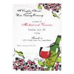 Amor de la invitación del vino y de la uva